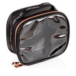 Imagen TRAVEL MAKEUP BAG SMALL BLACK & ROSE GOLD